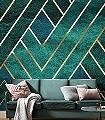 ARTDECO-Graphisch-FotoTapeten-Grafische-Muster-Art-Deco-Grün-Creme