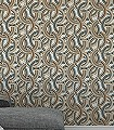Abigail,-col.-20-Kreise-Grafische-Muster-Art-Deco-Gold-Orange-Anthrazit-Weiß-Hellblau