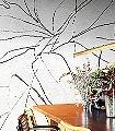 Abstract-Flora,-col.-09-Blumen-Florale-Muster-FotoTapeten-Schwarz-Creme