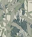 Adele-Blätter-Florale-Muster-FotoTapeten-Grün-Hellgrün