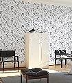 Adelgunde,-col.03-Blumen-Vögel-Fauna-Florale-Muster-Silber-Anthrazit-Creme