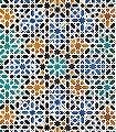 Alandalus-Kachel-Sterne-Orientalisch-Grün-Blau-Türkis-Weiß-Ocker