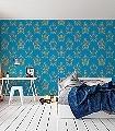 Anakreon,-blue-gold-Ornamente-Figuren-Klassische-Muster-Barock-Gold-Türkis