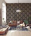 Anakreon,-brown-gold-Ornamente-Figuren-Klassische-Muster-Barock-Gold-Braun