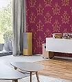 Anakreon,-darkmagenta-gold-Ornamente-Figuren-Klassische-Muster-Art-Deco-Rot-Gold