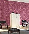 Anakreon,-darkmagenta-gold-Ornamente-Figuren-Klassische-Muster-Barock-Rot-Gold