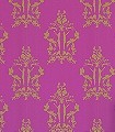 Anakreon,-fuchsia-gold-Ornamente-Figuren-Klassische-Muster-Barock-Gold-Pink