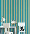 Anakreon-Stripes,-blue-gold-Streifen-Blockstreifen-Gold-Türkis