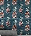 Ananas,-col.-3-Blumen-Obst-Florale-Muster-Multicolor