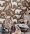 Animals---Toffee-Tiere-Fauna-KinderTapeten-Braun-Creme
