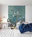 Antheia-Blumen-Tiere-Bäume-Blätter-Vögel-Fauna-Florale-Muster-FotoTapeten-Multicolor