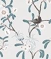 Antonia,-col.-1-Blumen-Blätter-Vögel-Äste-Fauna-Florale-Muster-Rot-Anthrazit-Weiß-Creme-petrol