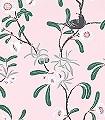 Antonia,-col.-4-Blumen-Blätter-Vögel-Äste-Fauna-Florale-Muster-Rot-Grün-Rosa-Anthrazit-Weiß