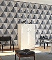 Apex-Grand,-col.43-Graphisch-Dreiecke-Grafische-Muster-Gold-Anthrazit-Creme