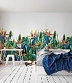 Aquarello-Leafs-Florale-Muster-Moderne-Muster-Grün