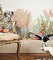 Archipelago-Border-Blumen-Unterwasserwelt-Moderne-Muster-KinderTapeten-Weiß-Multicolor
