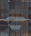 Arco,-col.01-Punkte-Quadrate/Rechtecke-Retro-Muster-Blau