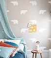 Arctic-bear,-col.-1-Tiere-KinderTapeten-Weiß-Hellbraun