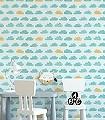Ariel,-col.02-Wolken-KinderTapeten-Türkis-mint