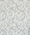 Audrey-Hepburn-Figuren-Zeitung-Moderne-Muster-Silber-Weiß