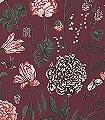 Aurelie,-col.-4-Blumen-Blätter-Florale-Muster-Grün-Weiß-weinrot