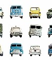 Autotapete-Fahrzeuge-FotoTapeten-KinderTapeten-Weiß-Multicolor