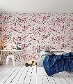 Avery,-col.05-Blumen-Schemen/Silhouetten-Moderne-Muster-Rot-Grau-Braun-Weiß-Pink