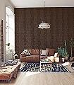 Ayo-Bison-Blätter-Florale-Muster-Schwarz-Bronze