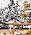 BALADE-SAUVAGE-Blumen-Bäume-Landschaft-Blätter-Florale-Muster-FotoTapeten-Schwarz-und-Weiß