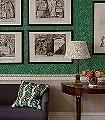 Bachelors-Button-Olive/Turquoise-Blumen-Blätter-Klassische-Muster-Florale-Muster-Jugendstil-Grün-Blau-Türkis