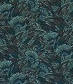 Bali-Jungle-Blätter-Florale-Muster-Grün-Türkis-Schwarz-Bronze