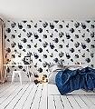 Bambalina,-col.03-Federn-Moderne-Muster-FotoTapeten-Blau-Grau-Braun-Schwarz-Weiß