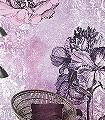 Baroque,-Pink-Blumen-FotoTapeten-Rosa-Anthrazit-Weiß-Flieder