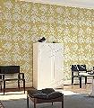 Bavero,-col.-4-Blumen-Blätter-Florale-Muster-Gelb-Weiß