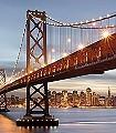 Bay-Bridge-Gebäude-Brücke-FotoTapeten-Blau-Braun-Multicolor