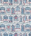 Beach-Huts,-col.-9-Tiere-Gebäude-Strand-Vögel-Moderne-Muster-Blau-Grau-Weiß