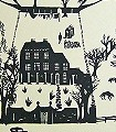 Beastly-Chronicles,-charcoal-grey-Märchen-Klassische-Muster-KinderTapeten-Anthrazit-Creme