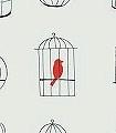 Birdcages-Vögel-Vogelkäfig-Moderne-Muster-Schwarz-Creme-Multicolor