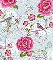 Birds-in-Paradise,-col.02-Blumen-Vögel-Florale-Muster-Weiß-Multicolor
