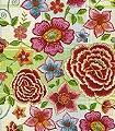 Birte-Blumen-Karos-Stickerei-Florale-Muster-Moderne-Muster-Grün-Blau