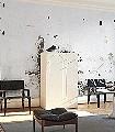 Blanco-Pared-Stein-Patina-Fassade-Moderne-Muster-FotoTapeten-Grau-Weiß-Hellbraun