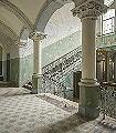 Bleached-Baroque-Gebäude-3D-Tapeten-tromp-l'oeil-FotoTapeten-Grau-Hellgrün-Weiß