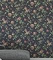 Blomslinga,-col.-7-Blumen-Blätter-Klassische-Muster-Florale-Muster-Rot-Grün-Anthrazit