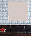 Blue-Edition-Streifen-Schemen/Silhouetten-Moderne-Muster-Weiß-Hellblau