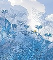 Blue-Sky-Bäume-FotoTapeten-Blau-Weiß-Hellblau