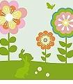 Blumenwiese-Blumen-Weiß-Creme