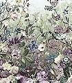 Botanica-Blumen-Schmetterlinge-FotoTapeten-Grün-Blau-Lila