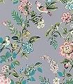Botanical-Print,-col.05-Blätter-Vögel-Florale-Muster-Grau-Multicolor