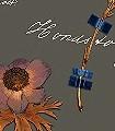 Botanicals,-graphite-Blumen-Blätter-Florale-Muster-Blau-Grau-Orange
