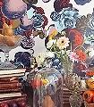 Boudoir-Blumen-Früchte-Fauna-Moderne-Muster-Weiß-Multicolor